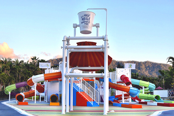 A brand new 13 slide water park is about to open at Big 4 Adventure Whitsundays Airlie Beach
