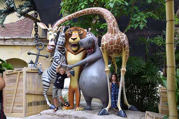 Madagascar at Universal StudiosSingapore with kids