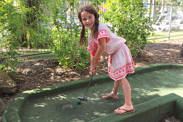 fun on the mini golf course at Big 4 Adventure Whitsundays Airlie Beach