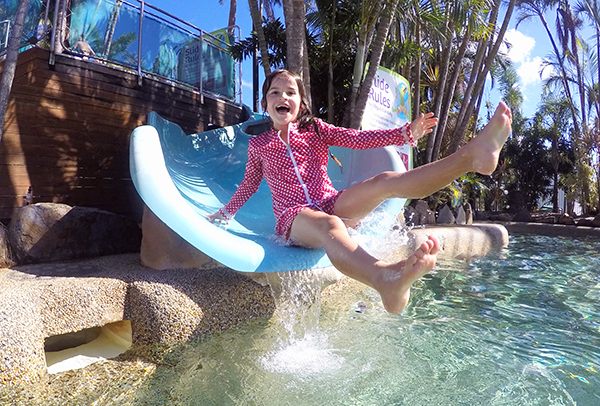 Family fun in the lagoon pool at Big 4 Adventure Whitsundays Airlie Beach