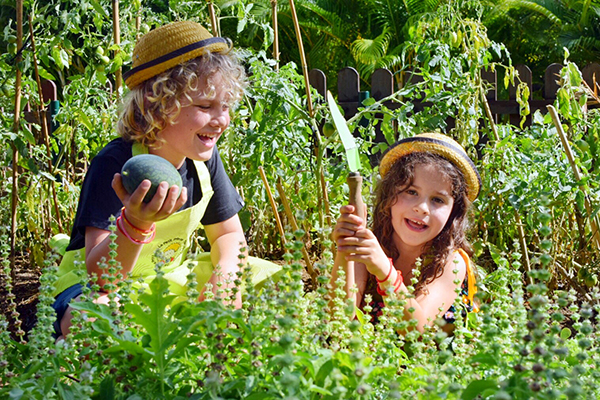 Organic gardening is one of the kids activities at Sofitel Bali Nusa Dua with Kids