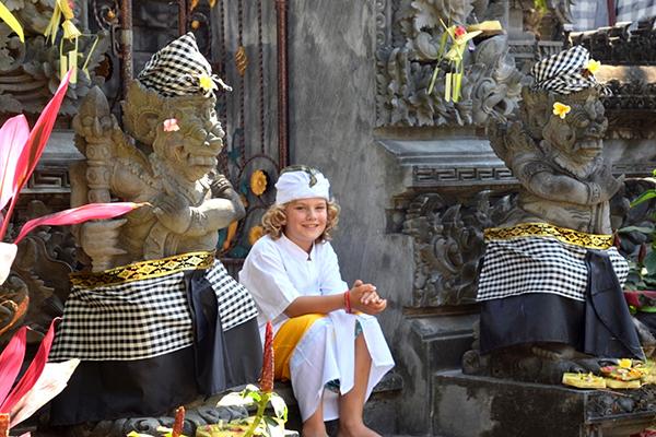 Boy at the temple at Sofitel Bali Nusa Dua