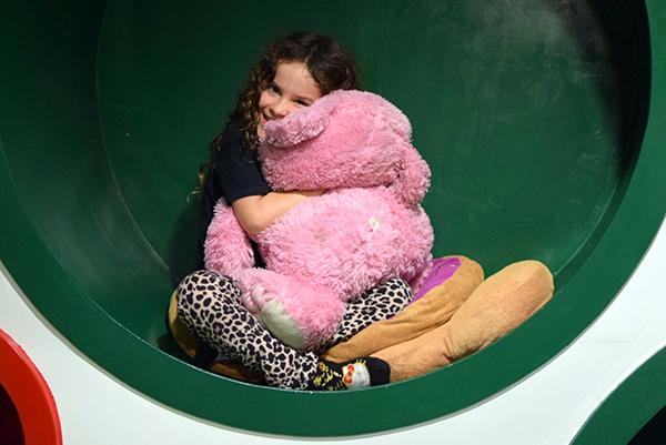 Sofitel Bali Nusa Dua with kids: Sugarpuff snuggled up in a play room