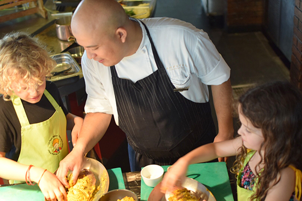 Cooking lessons are one of the kids activities kids at Sofitel Bali Nusa Dua's