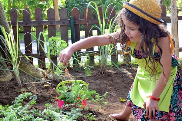 Bali by kids; Organic gardening at the kids club, Sofitel Bali Nusa Dua