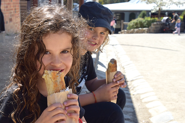 Super sausage rolls from the Hope Bakery at Sovereign Hill