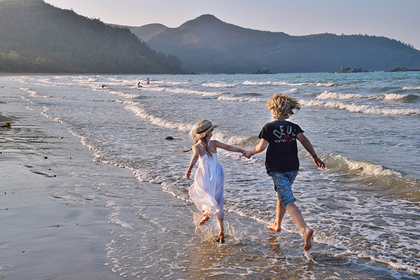 Frolicking on Casuarina Beach, Cape Hillsborough, QUeensland