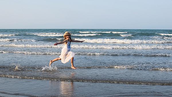 Kids on Casuarina Beach, Cape Hillsborough, QUeensland