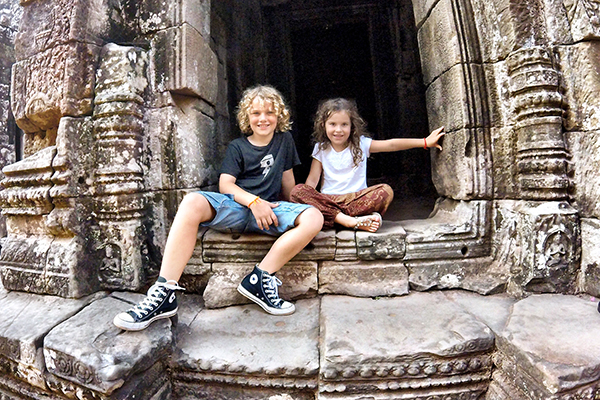 Top tips for travelling with kids in Cambodia - Angkor Thom