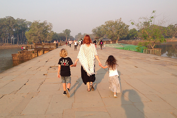 Angkor Wat with my babies