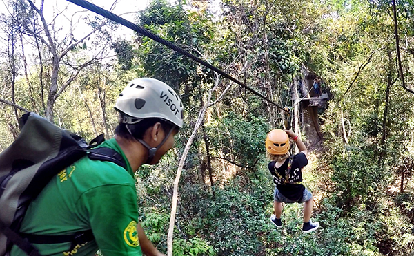 Siem Reap with kids - Angkor Zipline