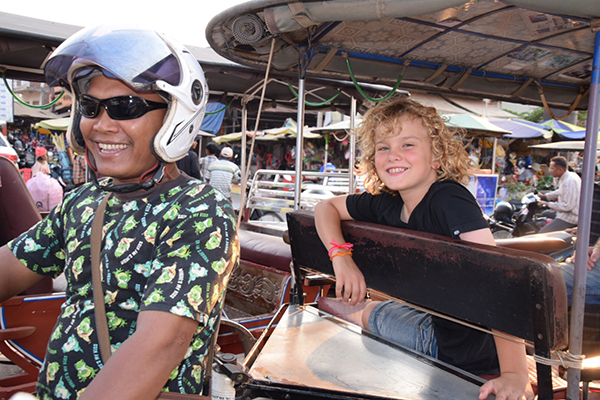 Cambodia with Kids: Cooks by Tuk Tuk