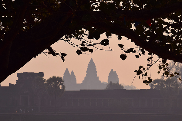 Angkor Wat in the morning haze