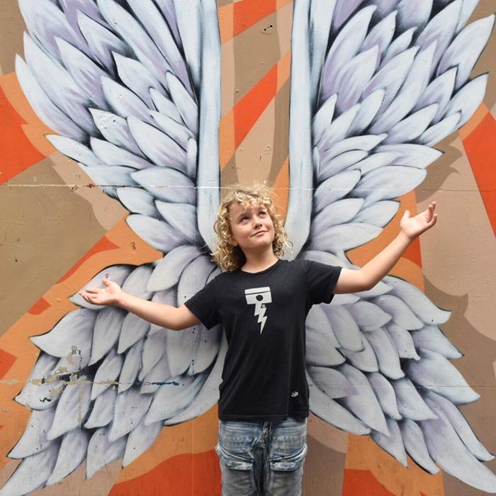 Fallen baby angel