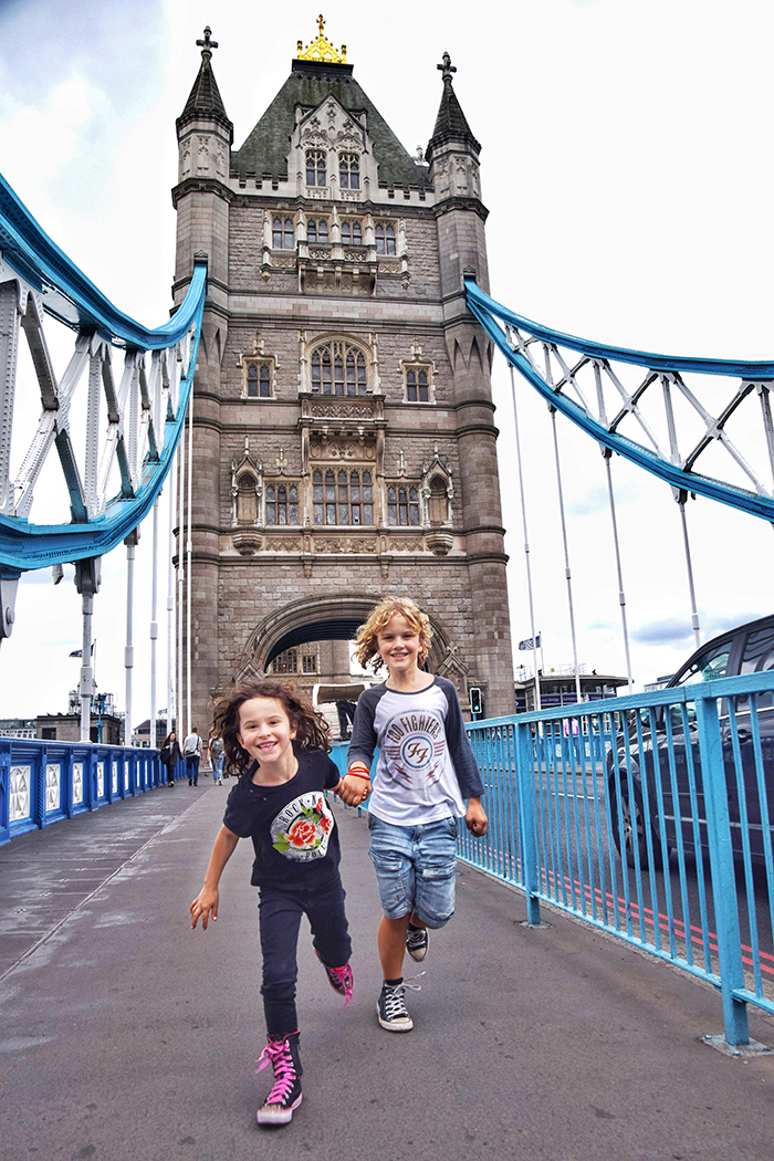 Kids on Tower Bridge London