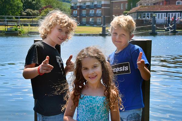 Three amigos in Marlow