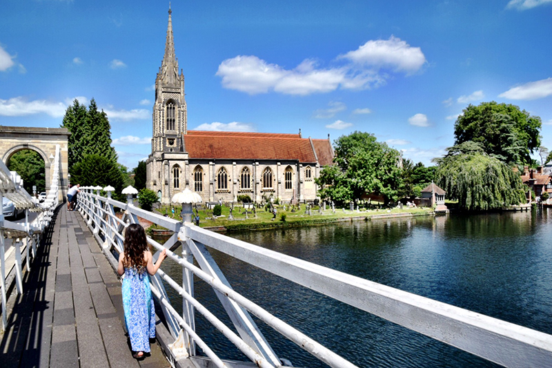 Marlow with kids: Marlow Bridge Buckinghamshire