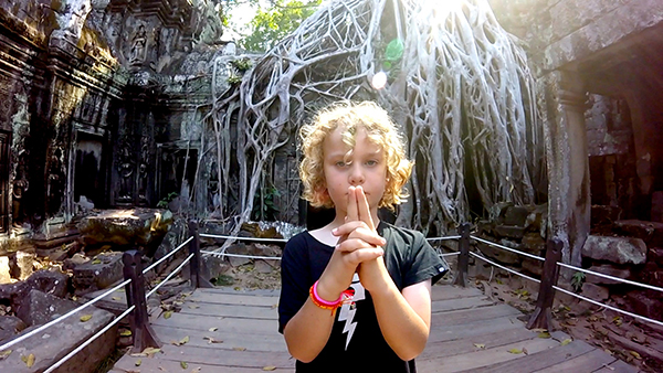Top tips for travelling with kids - Ta Prohm