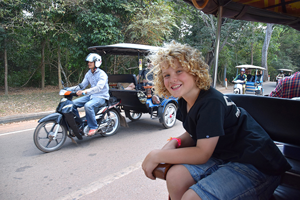 Top tips for travelling with kids in Cambodia an early start is best for kids at Angkor Wat