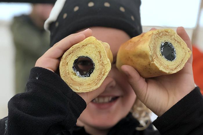 Making Baumkuchen in Hokkaido