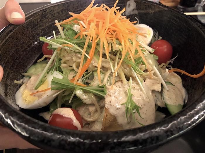 Ramen salad in Hokkaido