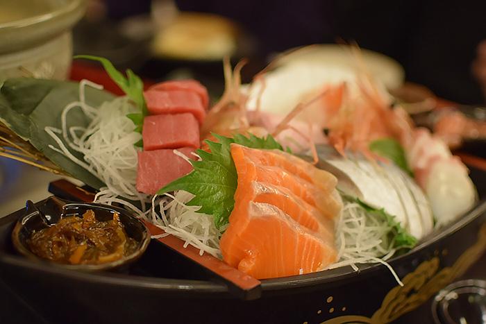 Sashimi at Hoshino Resorts Tomamu