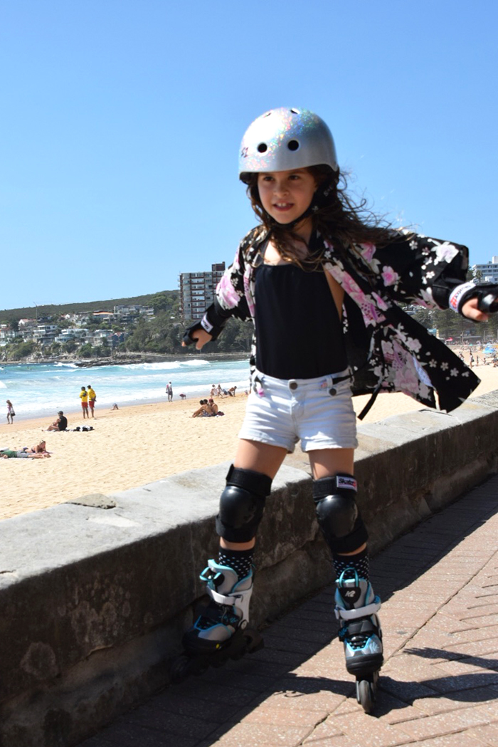 Blading at Manly Beach