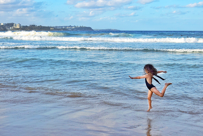 Kids on Manly Beach