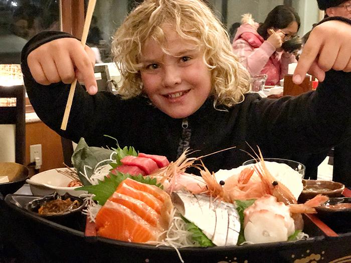 Sashimi Platter at Hotalu Street Hoshino Resorts Tomamu