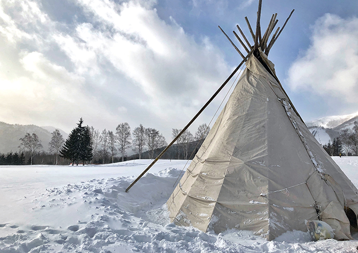 Teepee at Hoshino Resorts Tomamu