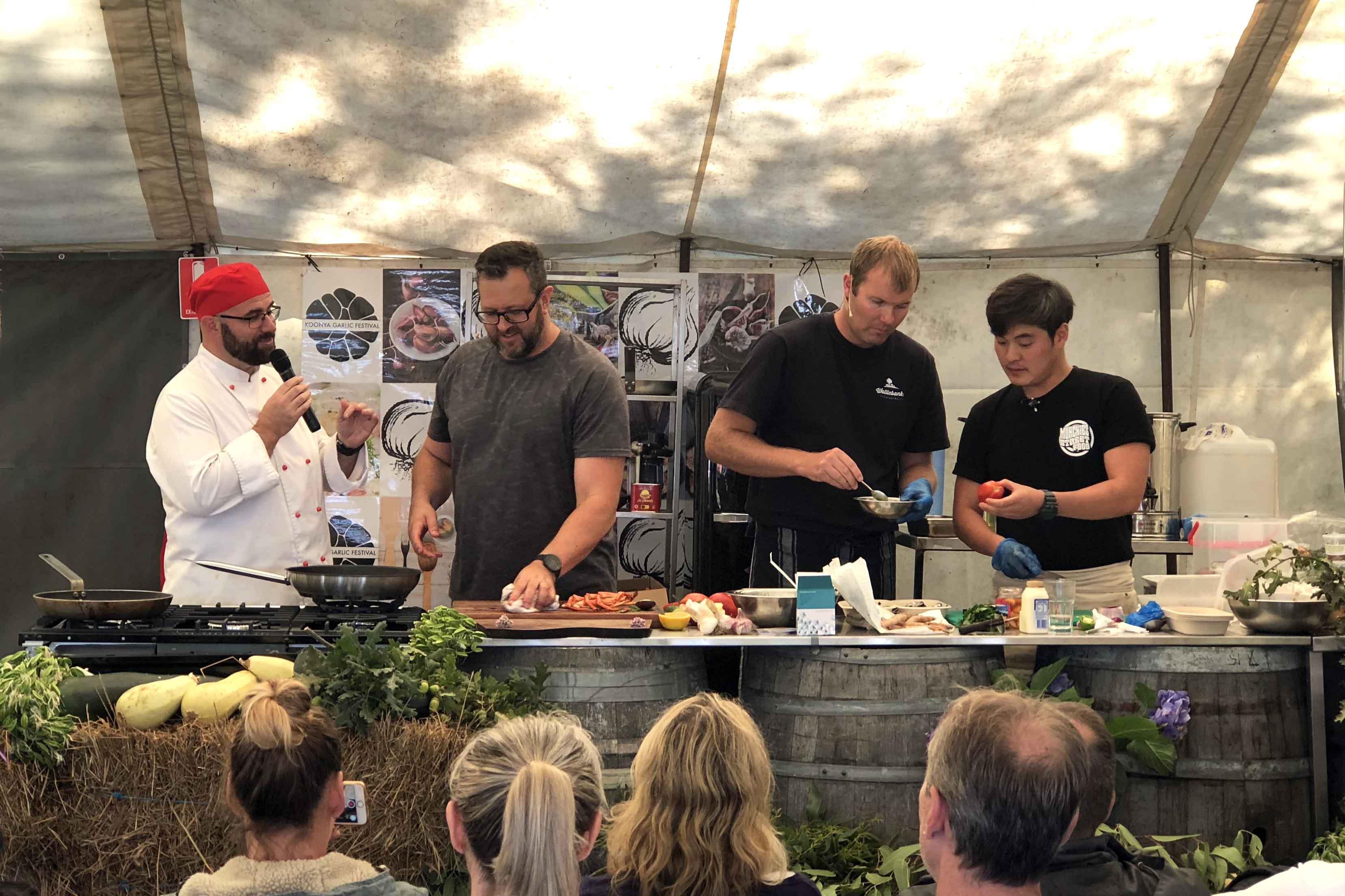 Top chef's cook off at Koonya Garlic Festival