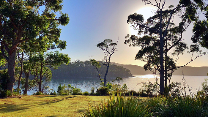 The view from Stewarts Bay Lodge