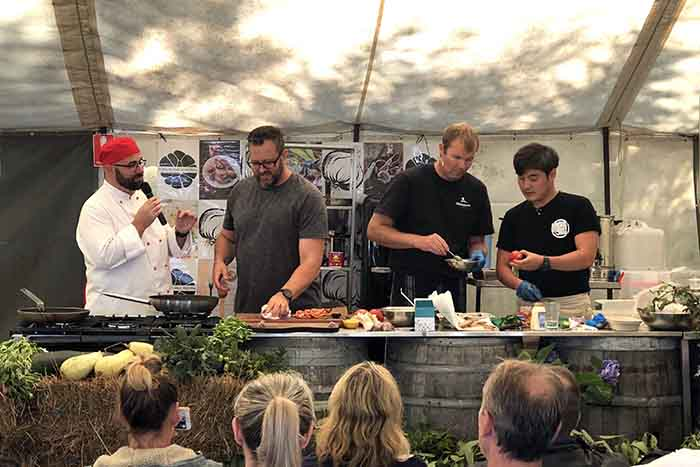 The cook off at Koonya Garlic Festival