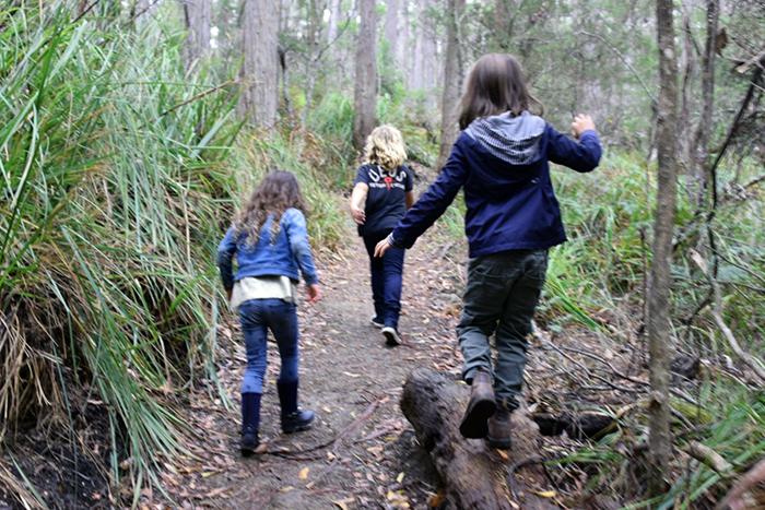 New friends on a hike to Cape Raoul Tasman Peninsula