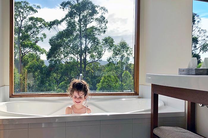 Bath time at Stewarts Bay Lodge