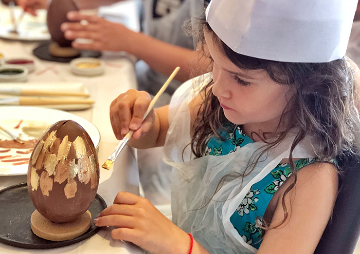Easter egg workshop at Park Hyatt Sydney with kids