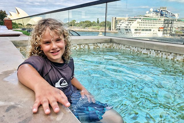 Pool with a view: Park Hyatt Sydney with kids