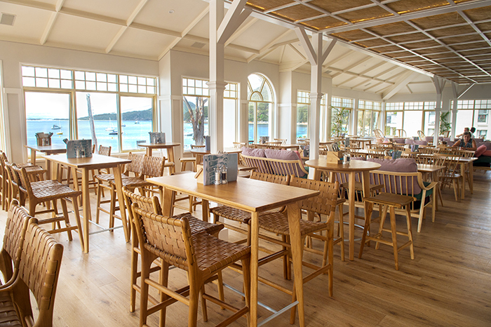 The Kitchen and Patio at Shoal Bay Country Club
