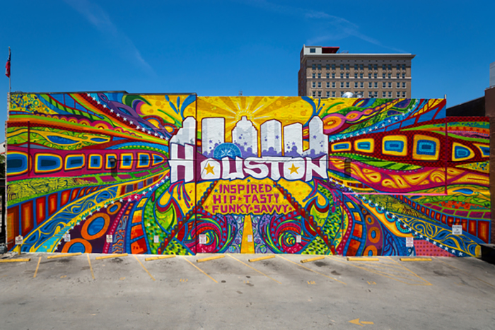 Downtown Houston Mural in Market Square. Photo courtesy Visit Houston