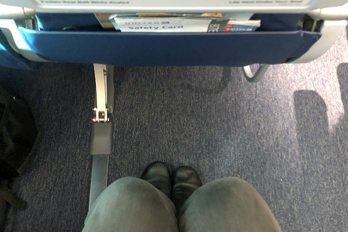 Leg room in economy plus United Sydney to Houston