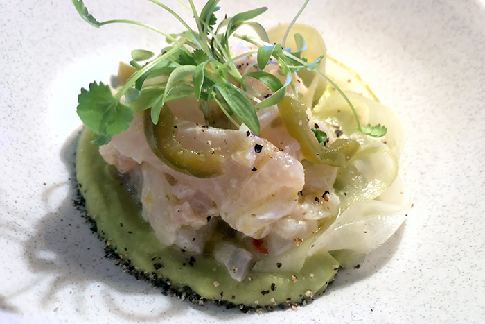 snapper ceviche at Love Fish Barangaroo
