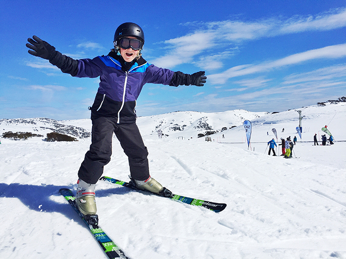 Skiing Falls Creek Resort with kids