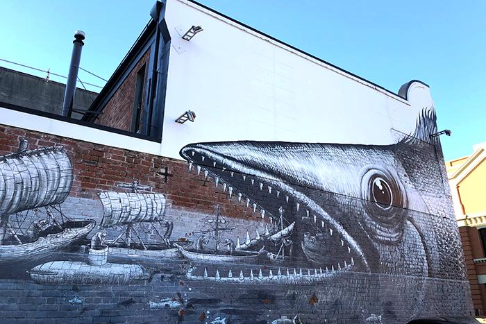 Māori waka, Pleghm - Vogel Street Dunedin
