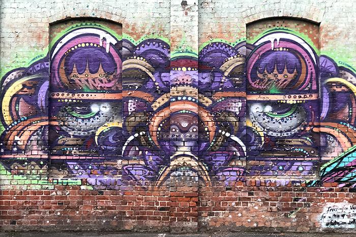Street art in Dunedin Duffel - Water Street
