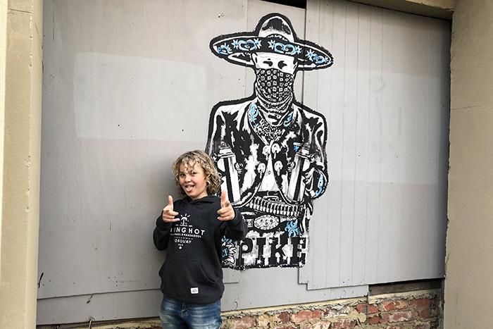 Cowboy Dunedin Street Art