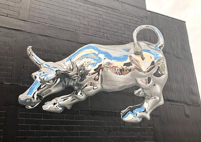 3D Bull, Bikismo,Street Art in Dunedin