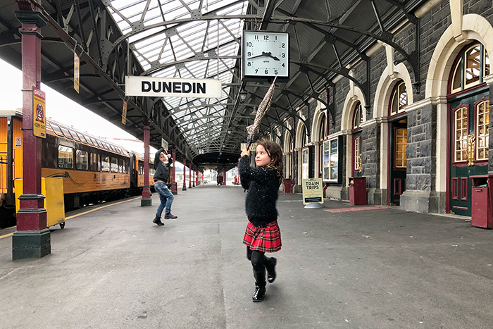 Dunedin's historic railway station
