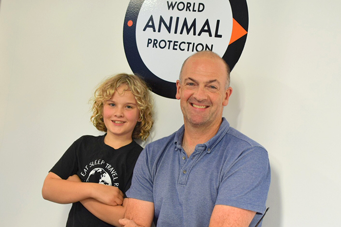 Raffles and Ben Pearson of World Animal protection