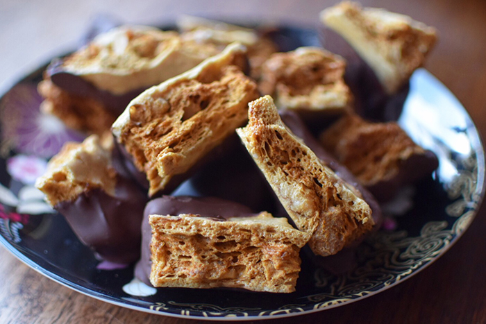 Choc Walnut Hokey Pokey recipe inspired by the food and flavours of New Zealand