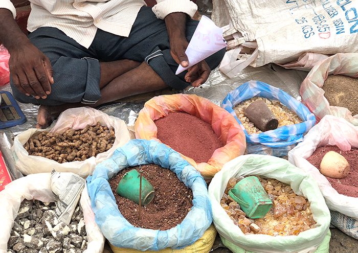 spices at Negombo Morning Market